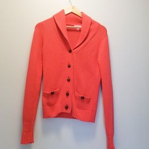 LILY PULITZER Coral Button Down Cardigan
